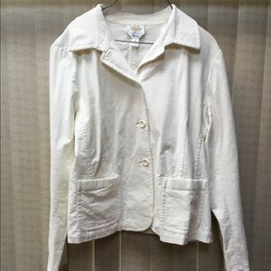 Talbots Cream Blazer/Jacket Button Up